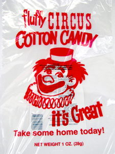 Where to find COTTON CANDY BAGS 100PK in Jackson