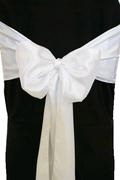 Where to rent CHAIR COVER SASH WHITE SATIN in Jackson MI