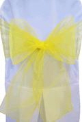 Where to rent CHAIR COVER SASH YELLOW ORGANZA in Jackson MI