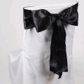 Where to rent CHAIR COVER SASH BLACK SATIN in Jackson MI