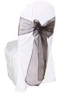 Where to rent CHAIR COVER SASH BROWN ORGANZA in Jackson MI
