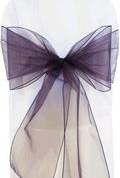 Where to rent CHAIR COVER SASH EGGPLANT ORGANZA in Jackson MI