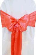 Where to rent CHAIR COVER SASH CORAL SATIN in Jackson MI