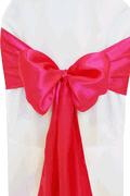 Where to rent CHAIR COVER SASH FUSCHIA SATIN in Jackson MI