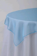 Where to rent 60  SQUARE LIGHT BLUE ORGANZA in Jackson MI