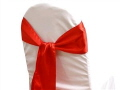 Where to rent CHAIR COVER SASH CHINESE RED SATIN in Jackson MI