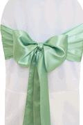 Where to rent CHAIR COVER SASH SAGE GREEN SATIN in Jackson MI