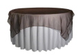 Where to rent 90  SQUARE OVERLAY BROWN ORGANZA in Jackson MI