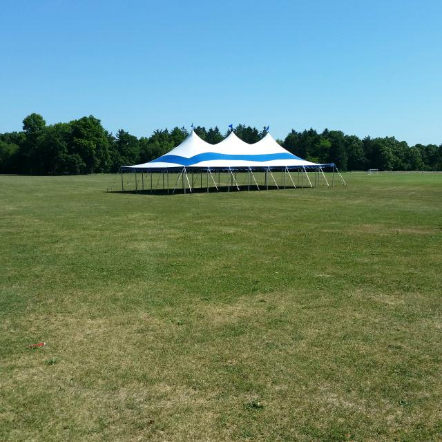 Where to find TENT 30  X 60  POLE BLUE   WHITE in Jackson