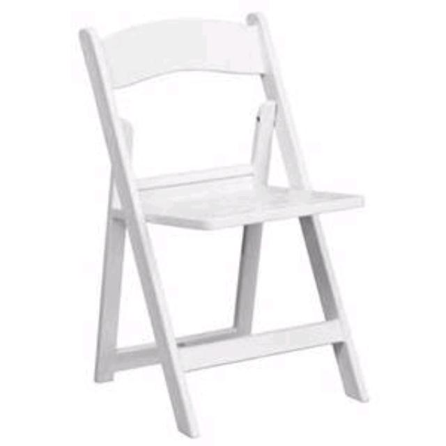 Where to find WHITE RESIN CHAIR FLAT BACK in Jackson