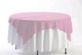 Where to rent 60  SQUARE LIGHT PINK ORGANZA OVERLAY in Jackson MI