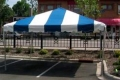 Where to rent TENT 20  x 20  FRAME BLUE WHITE in Jackson MI