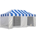 Where to rent TENT 10 X 20 TOP BLUE WHITE in Jackson MI