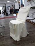 Where to rent Chair Cover Ivory Stretch Poly in Jackson MI