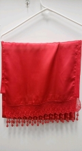 Where to rent Red Beaded Satin Table Runner in Jackson MI